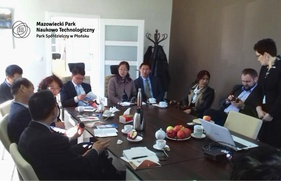 Wizyta delegacji z Chin w MPNT